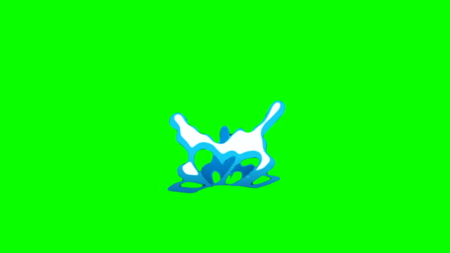 animation of water cartoon green box overlay alpha channel - infinite loop - chroma key stock videos & royalty-free footage