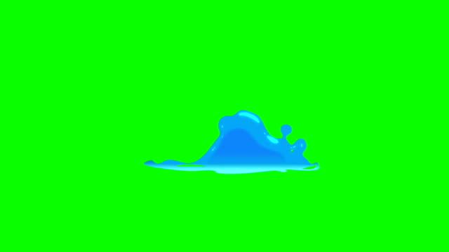 animation of water cartoon green box overlay alpha channel - infinite loop - spray stock videos & royalty-free footage