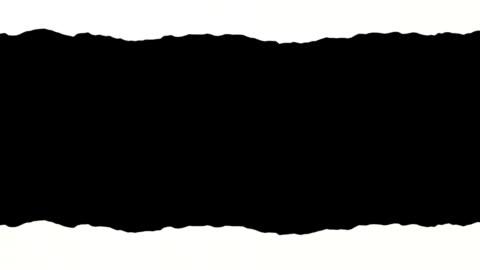 アニメーションの torn ペーパーホワイトにブラックのバックグラウンド。 ループます。 - paperwork点の映像素材/bロール