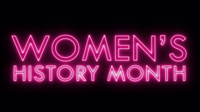 vídeos de stock, filmes e b-roll de animação do texto do mês da história das mulheres, imagens ideais para o vídeo de ações do dia das mulheres - número 8