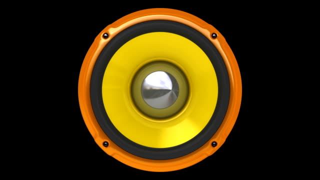 stockvideo's en b-roll-footage met animation orange speaker (hd, loop/cycle, alpha) - luidspreker