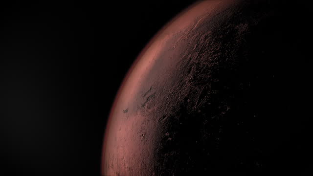 animation orbiting planet mars - wop productions stock-videos und b-roll-filmmaterial