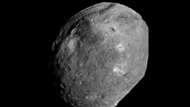 animation sequence of full rotation of vesta asteroid as taken by nasa's dawn spacecraft - 小惑星点の映像素材/bロール