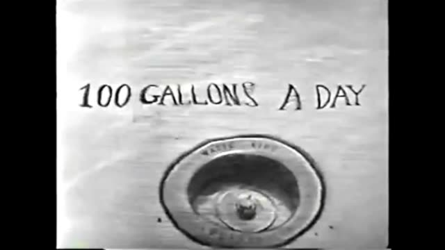 1959 Animation Showing Daily Water Usage: Johns Hopkins Science Review