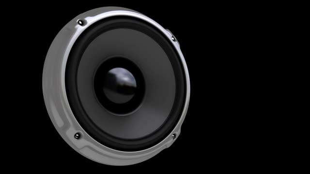 animation speaker (hd, loop/cycle, alpha) - loudspeaker stock videos & royalty-free footage