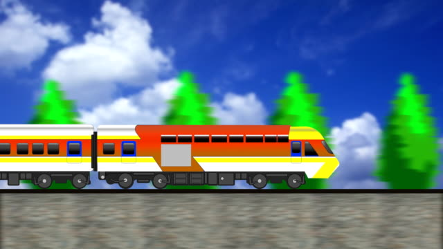 cg animation, the train is running - cartoon p stock videos & royalty-free footage