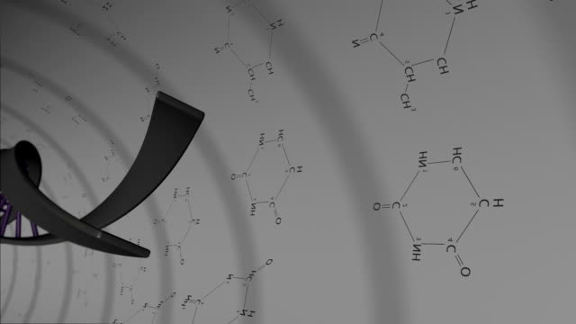 vidéos et rushes de animation d'adn - formule chimique