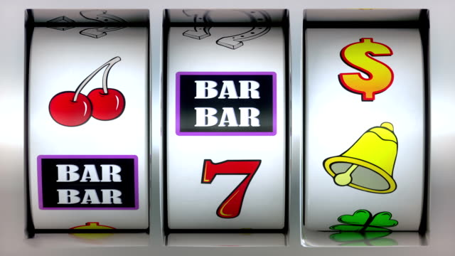 Animation video of Slot Machine and winner lucky seven!
