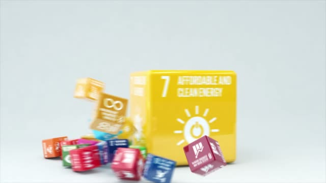 3d animation with box affordable and clean energy - united nations stock videos & royalty-free footage