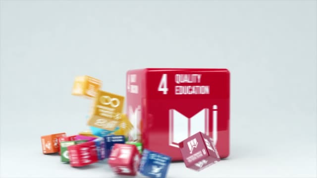 3d animation with box quality education - united nations stock videos & royalty-free footage
