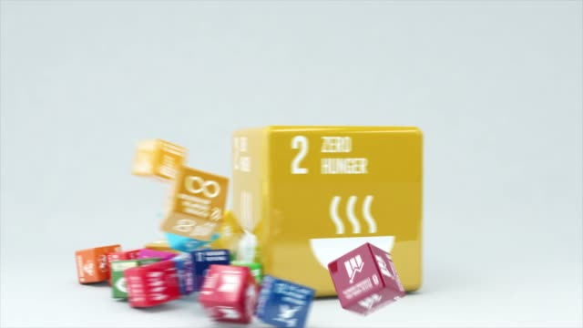 3d animation with box zero hunger - aspirations stock videos & royalty-free footage