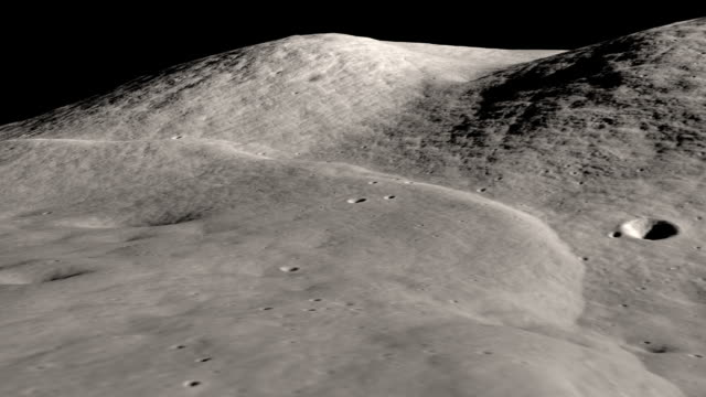 animation with lro data of the apollo 17 landing site, material provided by nasa - moon stock videos & royalty-free footage