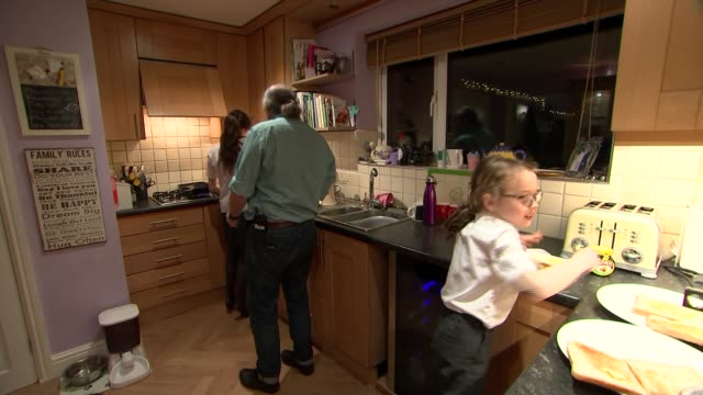 animator's sketches to cope with grief providing support to thousands england int gary andrews interview sot andrews in the kitchen with children... - animator stock videos & royalty-free footage