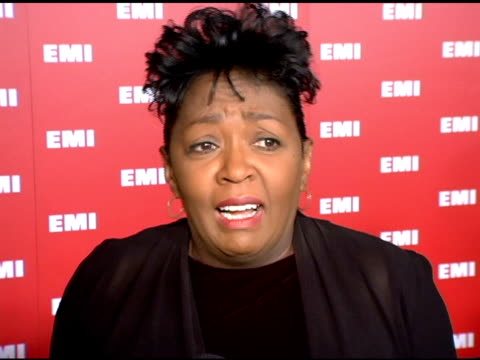 anita baker on the performances at the 2006 grammy awards, on how the grammy show has changed, on her prefernce for all live performances and less... - emi grammy party stock videos & royalty-free footage