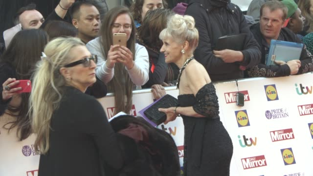 anita dobson at the daily mirror's pride of britain awards at grosvenor house on september 28 2015 in london england - anita dobson stock videos & royalty-free footage