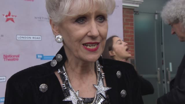 anita dobson meeting the cast and crew, the film is a tribute to the event, positive message, the sadness of the girls life, the musical at' london... - tribute event stock videos & royalty-free footage