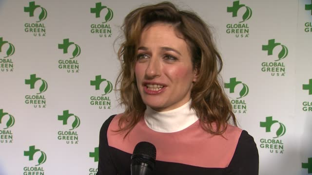 anita kravos on being at the event, and on being a part of academy awards week at global green usa 11th annual pre-oscar® party at avalon on february... - oscar party stock videos & royalty-free footage