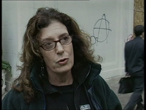 Anita Roddick speaks about ethical trading during WTO protests Seattle 1 December 1990