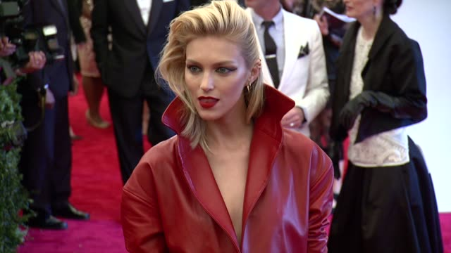 Anja Rubik at 'PUNK Chaos To Couture' Costume Institute Gala at Metropolitan Museum of Art on May 06 2013 in New York New York