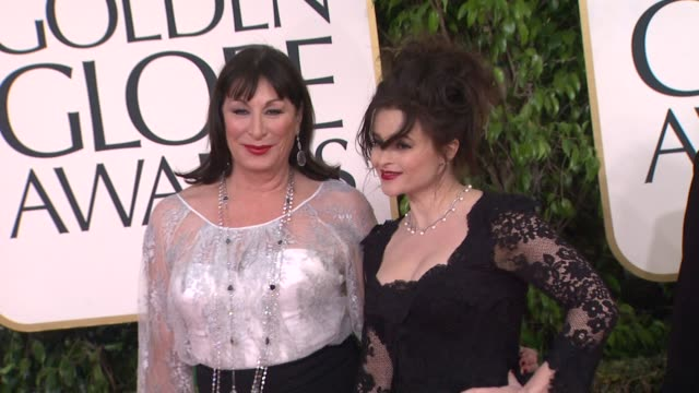 Anjelica Huston and Helena Bonham Carter at the 70th Annual Golden Globe Awards Arrivals in Beverly Hills CA on 1/13/13