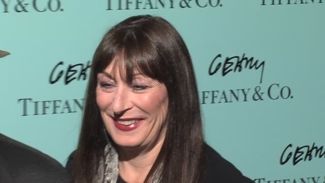 Anjelica Huston and husband Robert Graham Jr at the Tiffany Co Celebrates the Launch of Frank Gehry's Premiere Collection on Rodeo Drive at Tiffany...