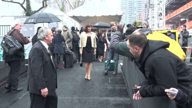 anjelica huston at mercedesbenz fashion week in new york on 2/15/2012 - anjelica huston stock videos & royalty-free footage