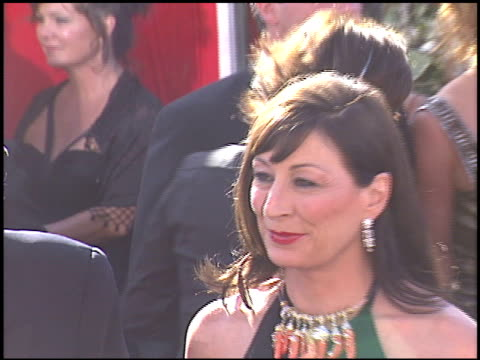 anjelica huston at the 2004 emmy awards arrivals at the shrine auditorium in los angeles california on september 19 2004 - anjelica huston stock videos & royalty-free footage