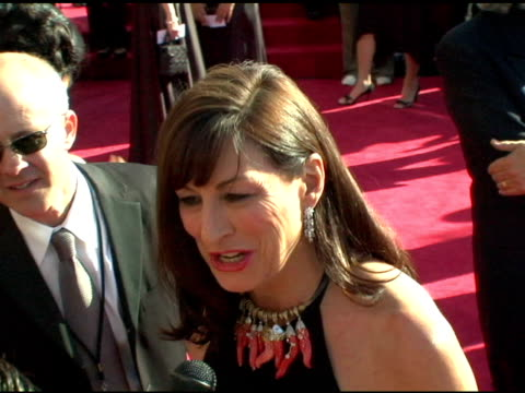 anjelica huston at the 2004 primetime emmy awards arrival interviews at the shrine auditorium in los angeles california on september 19 2004 - anjelica huston stock videos & royalty-free footage