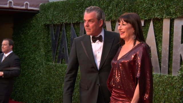 Anjelica Huston at the 2011 Vanity Fair Oscar Party Inside at Hollywood CA