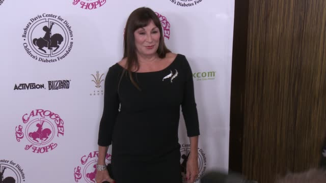anjelica huston at the 2016 carousel of hope ball in los angeles ca - anjelica huston stock videos & royalty-free footage
