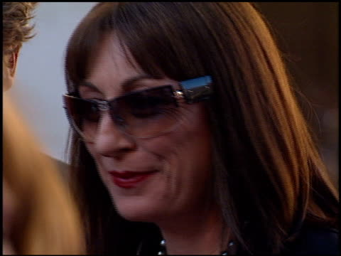 anjelica huston at the 'blood work' premiere at warner brothers in burbank california on august 6 2002 - anjelica huston stock videos & royalty-free footage
