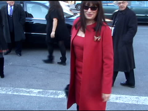 anjelica huston at the michael kors show 02/16/11 at the celebrity sightings in new york at new york ny - anjelica huston stock videos & royalty-free footage