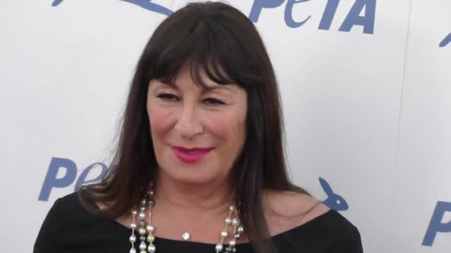 anjelica huston at the peta's 35th anniversary party at hollywood palladium in hollywood at celebrity sightings in los angeles on september 30 2015... - anjelica huston stock videos & royalty-free footage