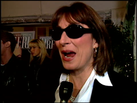 Anjelica Huston at the Women in Hollywood Luncheon at the Four Seasons Hotel in Beverly Hills California on October 11 2000