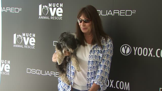 Anjelica Huston at the yooxcom and DSQUARED2 Canine Couture Launch To Benefit Much Love Animal Rescue at Beverly Hills CA