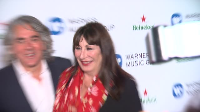 anjelica huston at warner music group 2014 grammy celebration at sunset tower hotel on in west hollywood california - anjelica huston stock videos & royalty-free footage