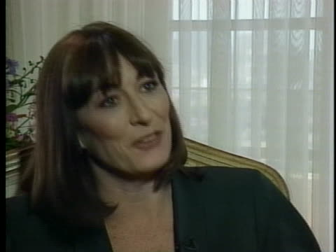anjelica huston discusses her career as an actress - anjelica huston stock videos & royalty-free footage