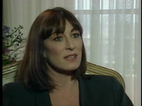 anjelica huston discusses her career as an actress - anjelica huston stock videos & royalty-free footage