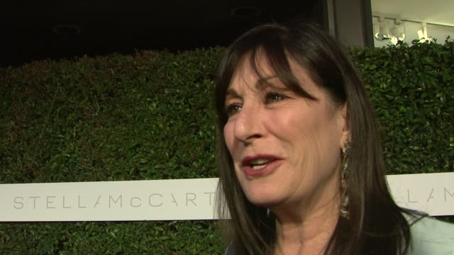 anjelica huston on the importance of attending tonight's event, on why films like home are so important, and on things everyone can do to be green at... - ブランド ステラマッカートニー点の映像素材/bロール