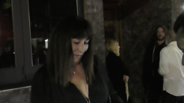 INTERVIEW Anjelica Huston talks about the passing of Tom Petty outside Harry Dean Stanton memorial at No Name in West Hollywood on October 02 2017 at...