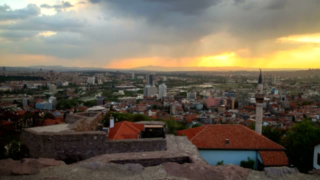 ankara and sunset(high angle wiew) - bildkomposition und technik stock-videos und b-roll-filmmaterial