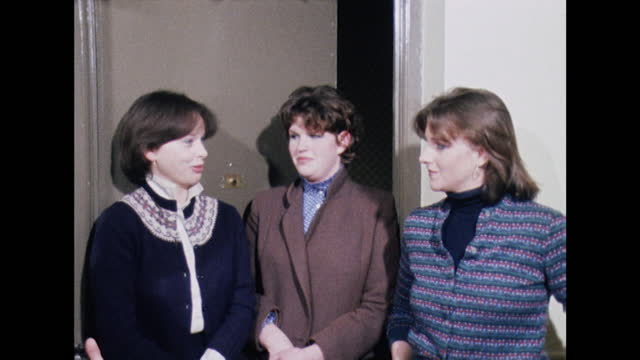 ann bolton, virginia pitman and carolyn pride, lady diana spencer's flatmates, say that it was easy to keep the engagement between prince charles and... - interview event stock videos & royalty-free footage