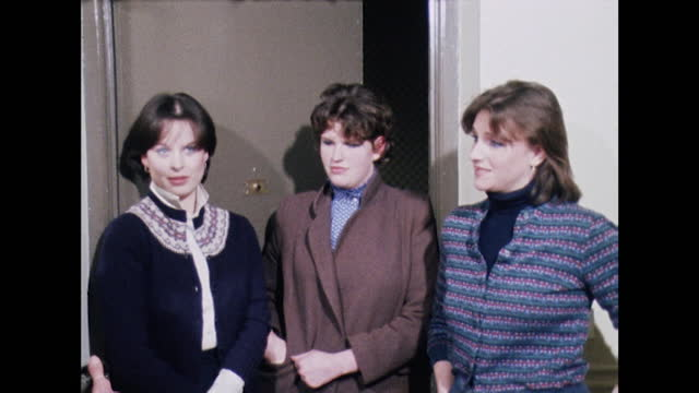 """ann bolton, virginia pitman and carolyn pride, lady diana spencer's flatmates, speak about how lady diana is as a flatmate, saying """"she has been the... - young women stock videos & royalty-free footage"""