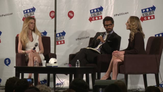 INTERVIEW Ann Coulter Ana Kasparian at Politicon 2017 in Los Angeles CA