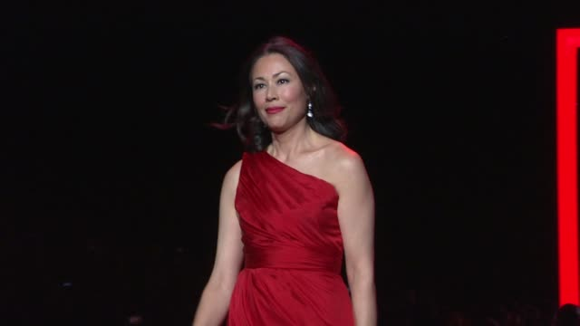 ann curry at the the heart truth's red dress collection - runway - fall 2011 mbfw at new york ny. - ann curry stock videos & royalty-free footage