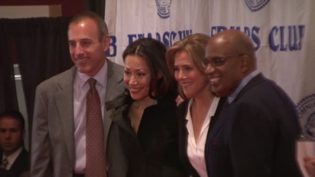 ann curry, meredith vieira, al roker and matt lauer at the friars club roast of matt lauer at new york ny. - meredith vieira stock videos & royalty-free footage