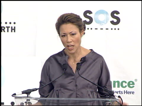 ann curry of 'the today show' at the live earth new york press room at giants stadium in east rutherford, new jersey on july 7, 2007. - ann curry stock videos & royalty-free footage