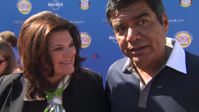 Ann Lopez and George Lopez on how people can learn more about the organization and who is at today's event at the Third Annual George Lopez Celebrity...