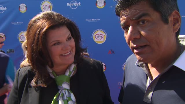Ann Lopez and George Lopez on if they are avid golfers and what their sponsors' support means to them at the Third Annual George Lopez Celebrity Golf...