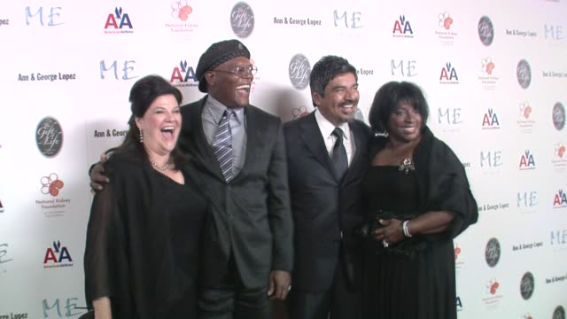Ann Lopez Samuel L Jackson George Lopez and LaTanya Richardson at the 29th Annual The Gift of Life Gala at the Hyatt Regency Century Plaza Hotel in...